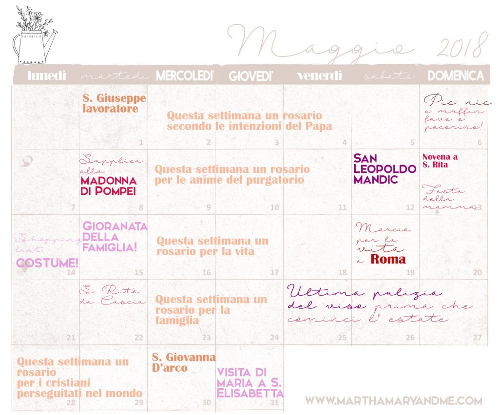 maggio-18 calendario