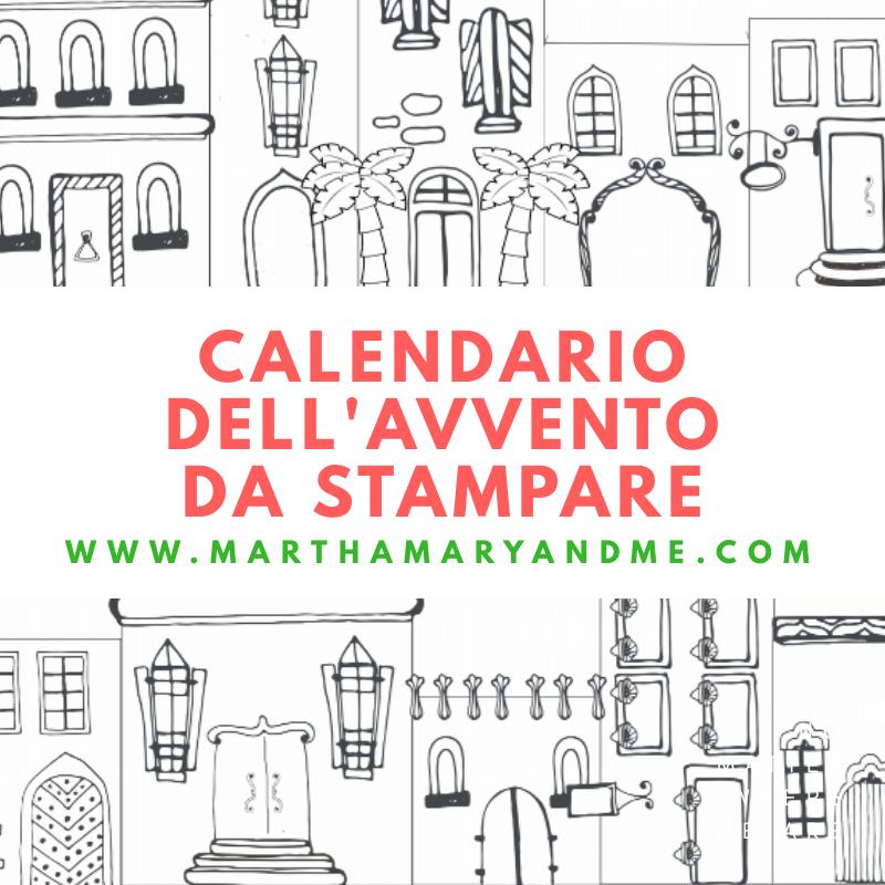 Calendario Dellavvento Da Stampare Per Bambini.Calendario Dell Avvento Cattolico Per Bambini Stampa