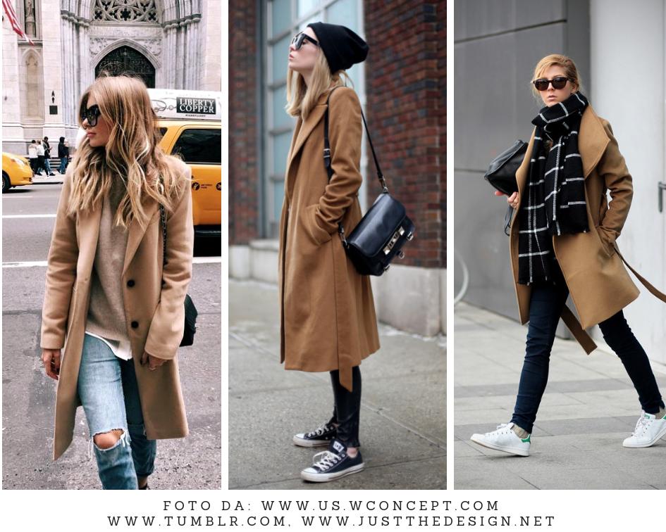 abbinare il cappotto cammello ai jeans